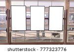 thre blank signage template in... | Shutterstock . vector #777323776