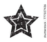 grunge star.vector star icon. | Shutterstock .eps vector #777327436