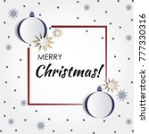vector new year and christmas... | Shutterstock .eps vector #777330316
