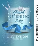 grand opening blue banner with... | Shutterstock .eps vector #777335038