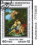 malagasy republic   circa 1987  ... | Shutterstock . vector #77733835