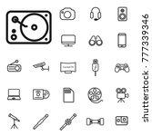 thin line dj aparatus icon.... | Shutterstock .eps vector #777339346