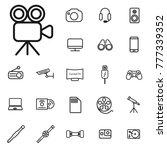 thin line camera icon. gadgets... | Shutterstock .eps vector #777339352