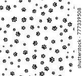 dog paw print seamless.... | Shutterstock .eps vector #777339508