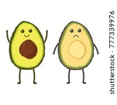 cute avocado isolated on white... | Shutterstock .eps vector #777339976