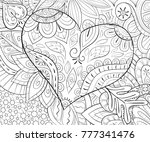 adult coloring book page a... | Shutterstock .eps vector #777341476