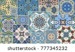 vector patchwork quilt pattern. ...   Shutterstock .eps vector #777345232