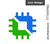 semiconductor cpu icon   Shutterstock .eps vector #777345982
