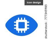 eye digital vision icon   Shutterstock .eps vector #777345985