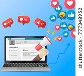 digital advertising  vector 3d... | Shutterstock .eps vector #777348952