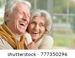 portrait of a happy laughing... | Shutterstock . vector #777350296