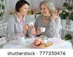 portrait of senior woman with... | Shutterstock . vector #777350476