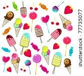 vector illustration of cute ... | Shutterstock .eps vector #77735077