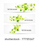 nature vector headers | Shutterstock .eps vector #77735167