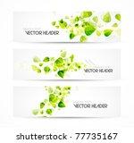 nature vector headers | Shutterstock .eps vector #77735167