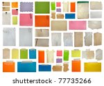 Set Of Paper Notes Isolated On...
