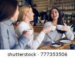 closeup of group of women... | Shutterstock . vector #777353506