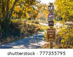 posted trail rules  sycamore... | Shutterstock . vector #777355795