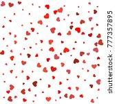 heart confetti of valentines... | Shutterstock .eps vector #777357895