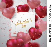 valentines day holiday sign.... | Shutterstock .eps vector #777360142