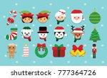 cartoon cute christmas set... | Shutterstock .eps vector #777364726