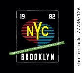 nyc brooklyn typography t shirt ...   Shutterstock .eps vector #777367126