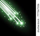 glittering falling stars ... | Shutterstock .eps vector #777367336