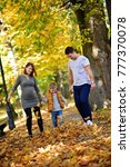 family in fall | Shutterstock . vector #777370078