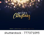 christmas background with... | Shutterstock . vector #777371095
