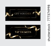 luxury vip invitations and... | Shutterstock .eps vector #777374998