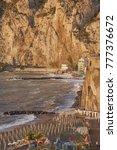marina in meta di sorrento and... | Shutterstock . vector #777376672