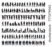 large set of silhouettes ... | Shutterstock . vector #777379042