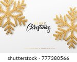 christmas background with... | Shutterstock . vector #777380566