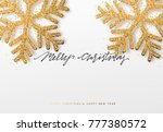 christmas background with... | Shutterstock . vector #777380572