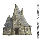 old witches house isolated on... | Shutterstock . vector #777385018
