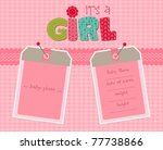 baby girl arrival card with... | Shutterstock .eps vector #77738866