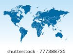 color world map vector | Shutterstock .eps vector #777388735