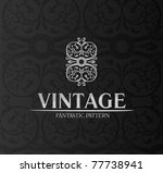 vintage logo decor label... | Shutterstock .eps vector #77738941