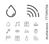 editable icons set with wifi ...
