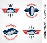 set of american football logo... | Shutterstock .eps vector #777391012