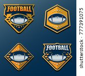 set of american football logo... | Shutterstock .eps vector #777391075