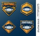 set of american football logo... | Shutterstock .eps vector #777391075