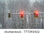Traffic Light And Street Scene...
