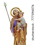 St Joseph Holding The Christ...