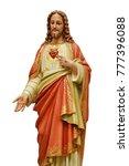 sacred heart of jesus statue... | Shutterstock . vector #777396088
