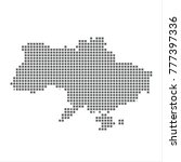 pixel map of ukraine. vector... | Shutterstock .eps vector #777397336