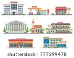 vector city public buildings... | Shutterstock .eps vector #777399478