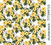Watercolor Yellow Blooming...