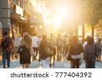 crowd of anonymous men and... | Shutterstock . vector #777404392