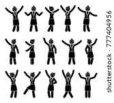 stick figure happiness ... | Shutterstock .eps vector #777404956